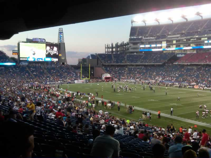 New England Patriots Seat View for Gillette Stadium Section 126, Row 38, Seat 2
