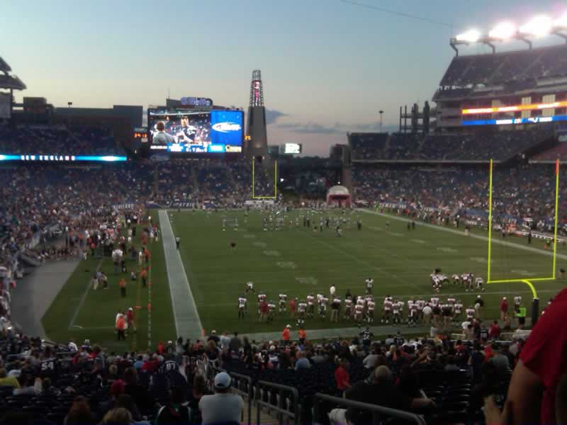 New England Patriots Seat View for Gillette Stadium Section 123, Row SRO