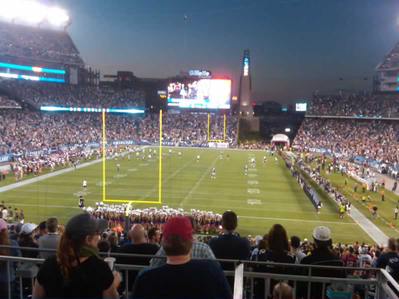 New England Patriots Seat View for Gillette Stadium Section 120, Row SRO