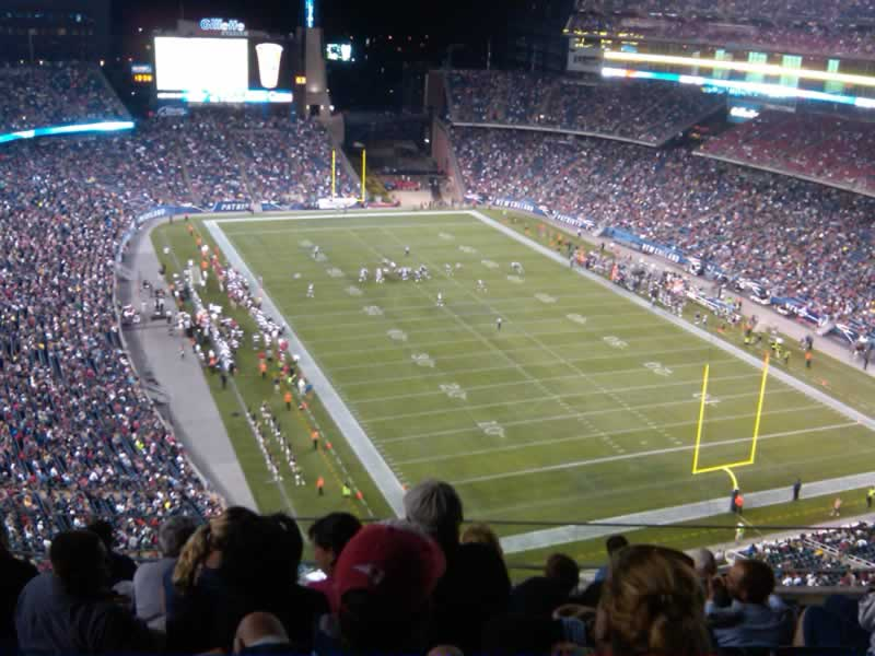 New England Patriots Seat View for Gillette Stadium Section 320, Row 7