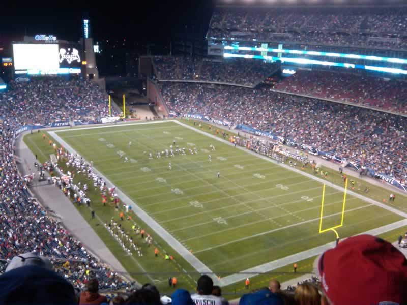 New England Patriots Seat View for Gillette Stadium Section 321, Row 7