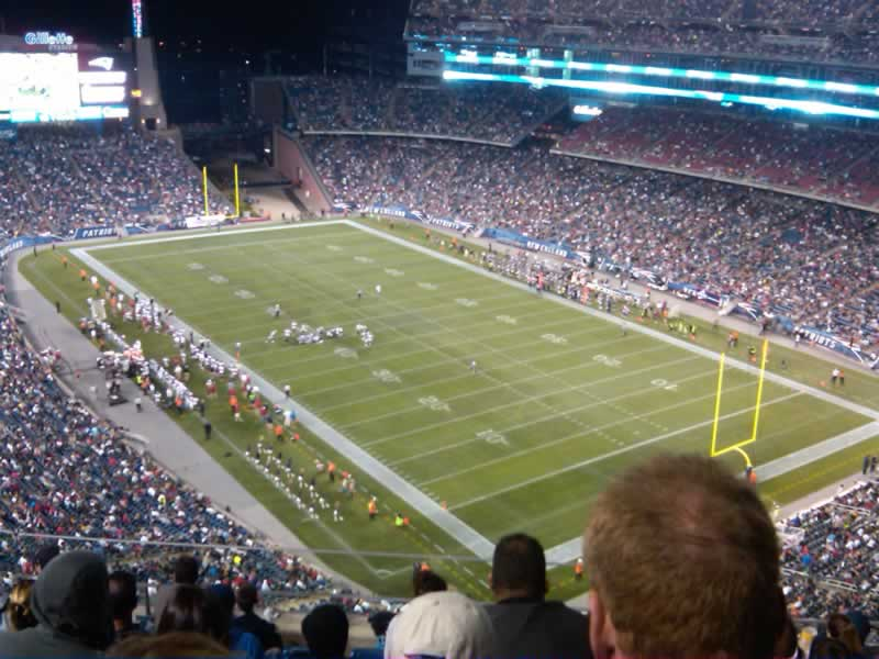 New England Patriots Seat View for Gillette Stadium Section 322, Row 7