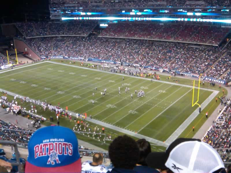 New England Patriots Seat View for Gillette Stadium Section 325, Row 7, Seat 18