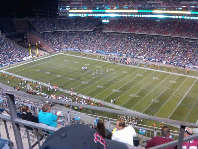 New England Patriots Seat View for Gillette Stadium Section 327, Row 9, Seat 3