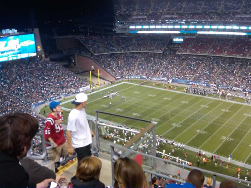 New England Patriots Seat View for Gillette Stadium Section 328, Row 11, Seat 21