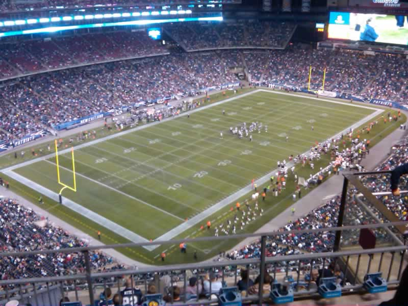 New England Patriots Seat View for Gillette Stadium Section 340, Row 11, Seat 5