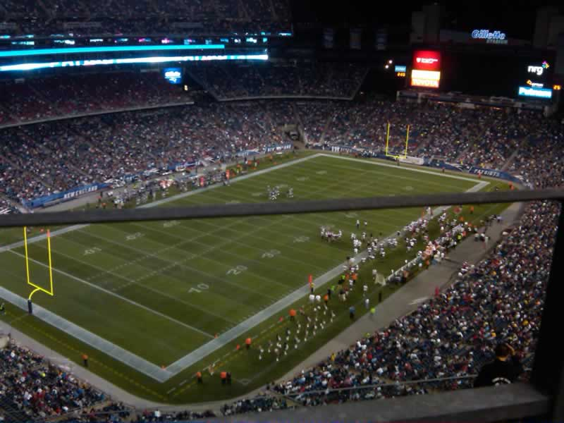 New England Patriots Seat View for Gillette Stadium Section 340, Row 8, Seat 12