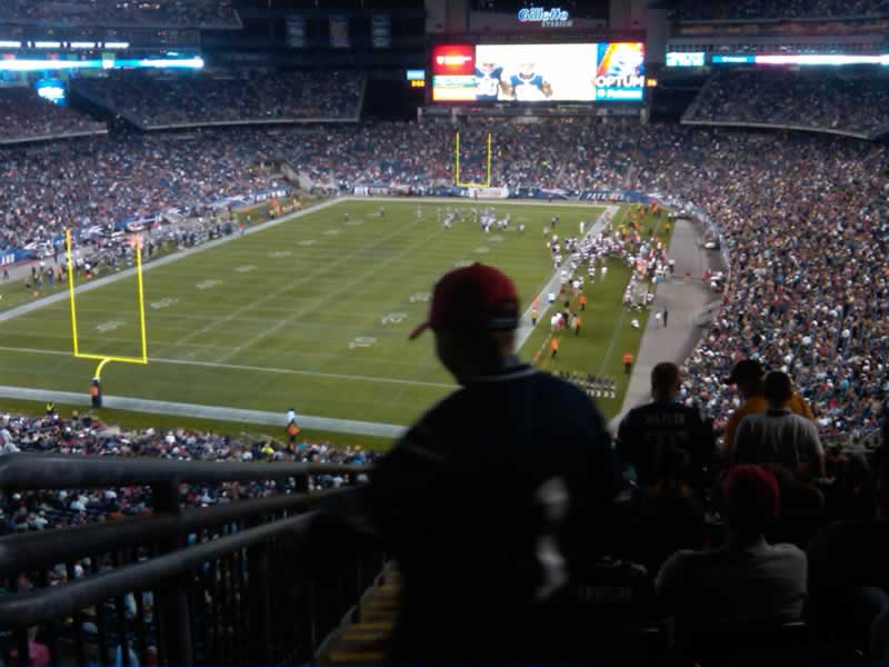 New England Patriots Seat View for Gillette Stadium Section 240, Row 27, Seat 27