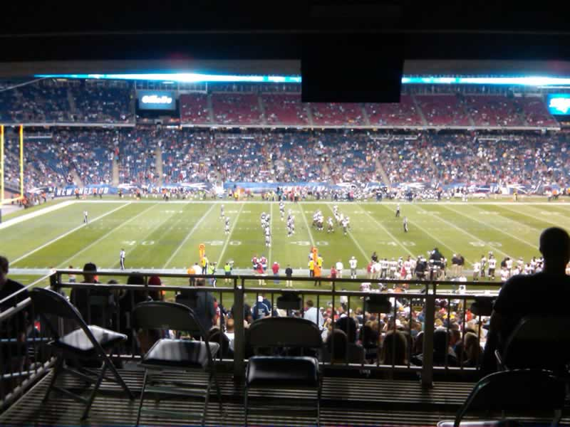 New England Patriots Seat View for Gillette Stadium Section 133, Row SRO