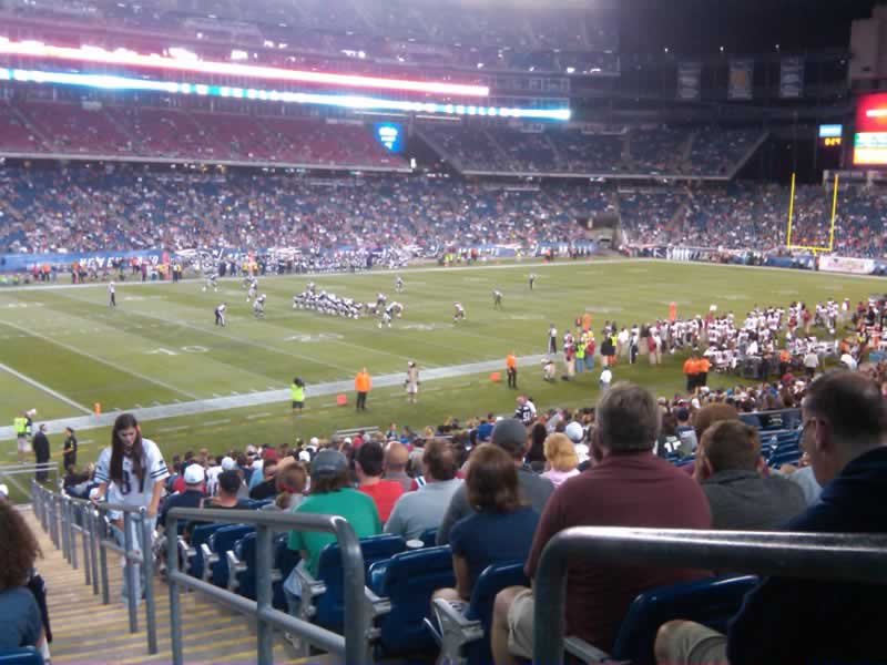 New England Patriots Seat View for Gillette Stadium Section 137, Row 30, Seat 1