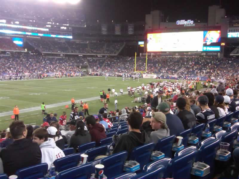 New England Patriots Seat View for Gillette Stadium Section 136, Row 20, Seat 21