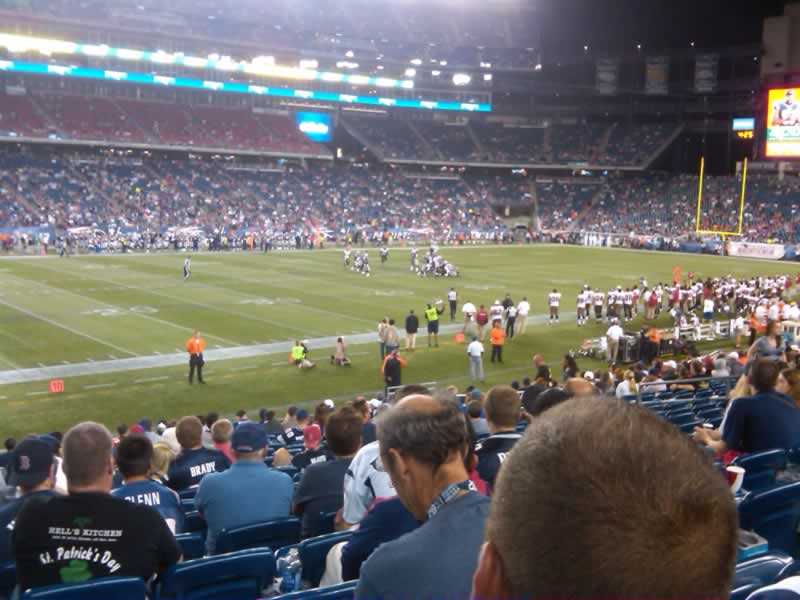 New England Patriots Seat View for Gillette Stadium Section 135, Row 20, Seat 21