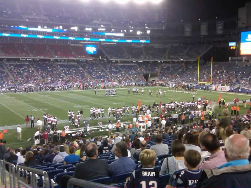 New England Patriots Seat View for Gillette Stadium Section 133, Row 27, Seat 1