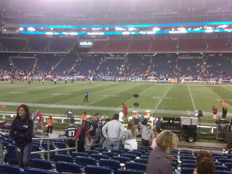New England Patriots Seat View for Gillette Stadium Section 131, Row 13, Seat 16