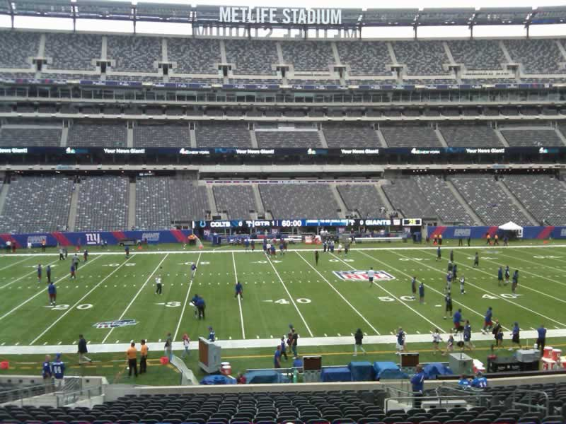 Seat View for MetLife Stadium Section 140