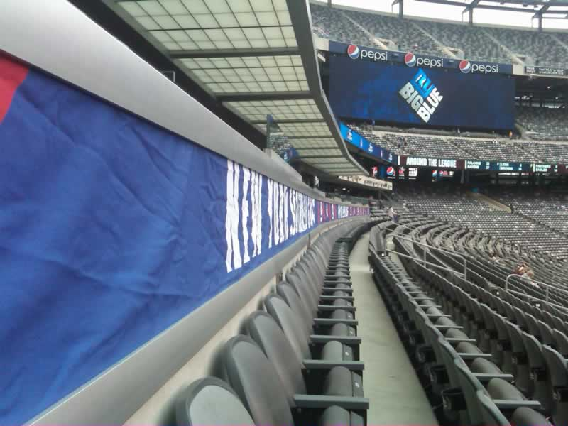 100 Level Seating Angle at Metlife Stadium