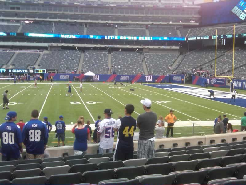 Seat View for MetLife Stadium Section 135, Row 9, Seat 25