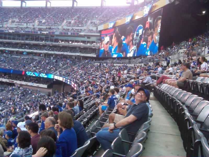 200 Level Seating Angle at Metlife Stadium