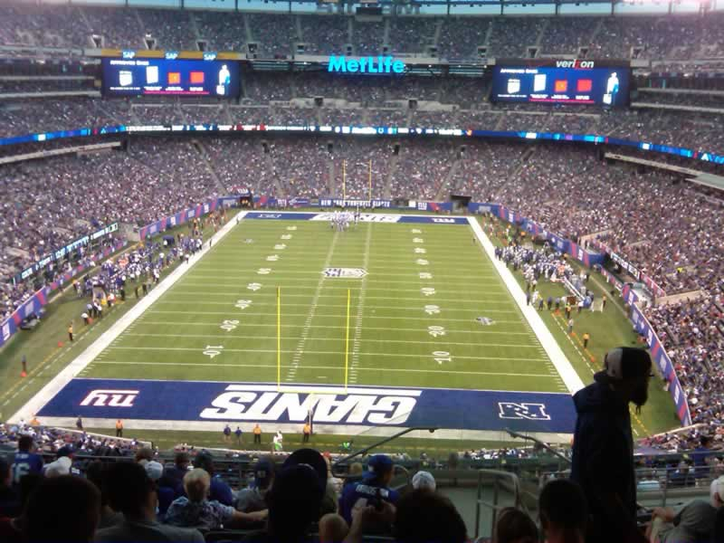 Seat View for MetLife Stadium Section 201, Row 12, Seat 2