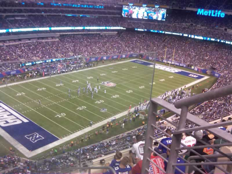 Seat View for MetLife Stadium Section 345, Row 6, Seat 1