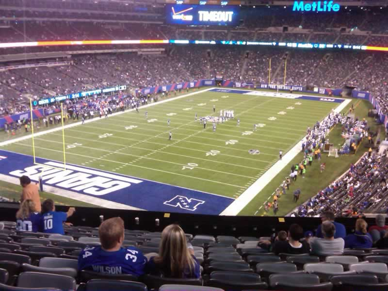 Seat View for MetLife Stadium Section 247, Row 12, Seat 13