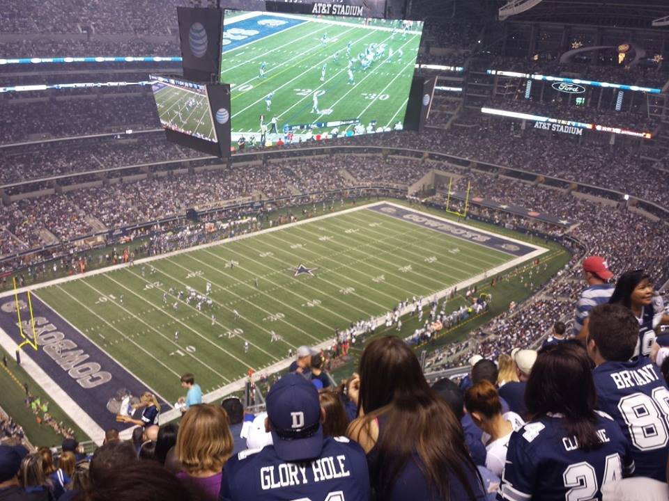 Dallas Cowboys Seat View for AT&T Stadium Section 419, Row 20, Seat 13