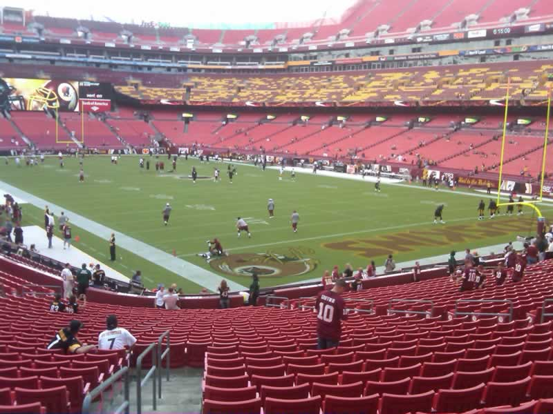Seat View for FedExField Section 135, Row 28, Seat 20