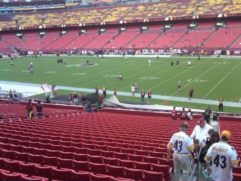 Seat View for FedExField Section 138, Row 28
