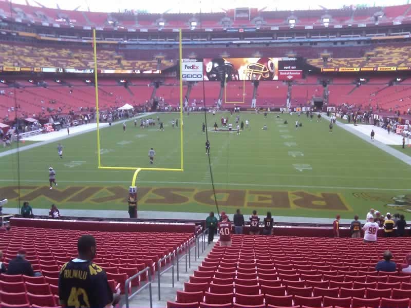 Seat View for FedExField Section 131, Row 28
