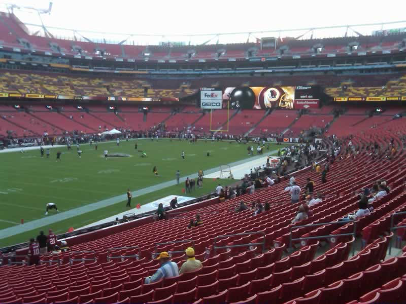 Seat View for FedExField Section 127, Row 28