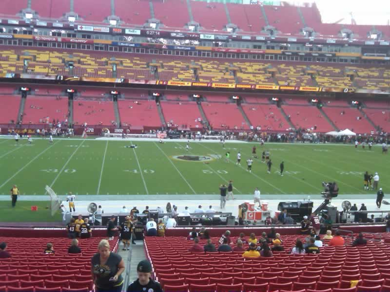 Seat View for FedExField Section 122, Row 28, Seat 20