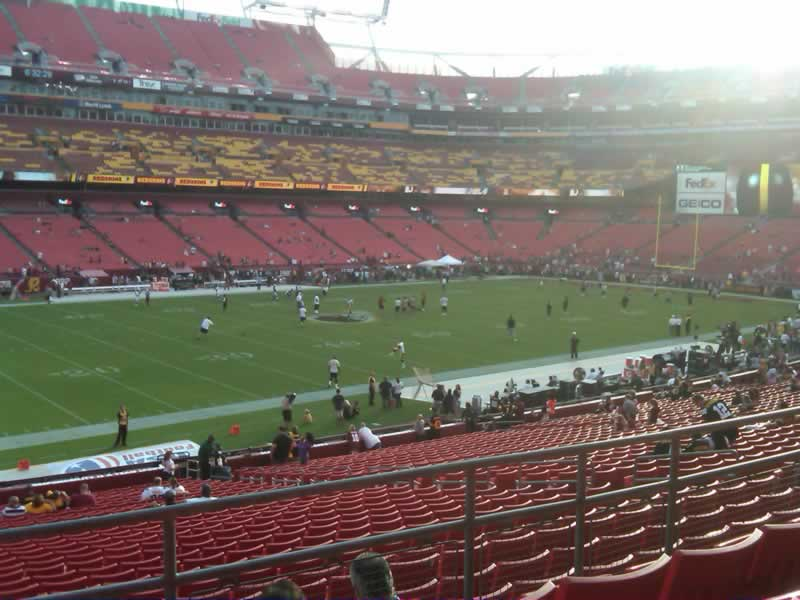 Seat View for FedExField Section 225, Row 4, Seat 17
