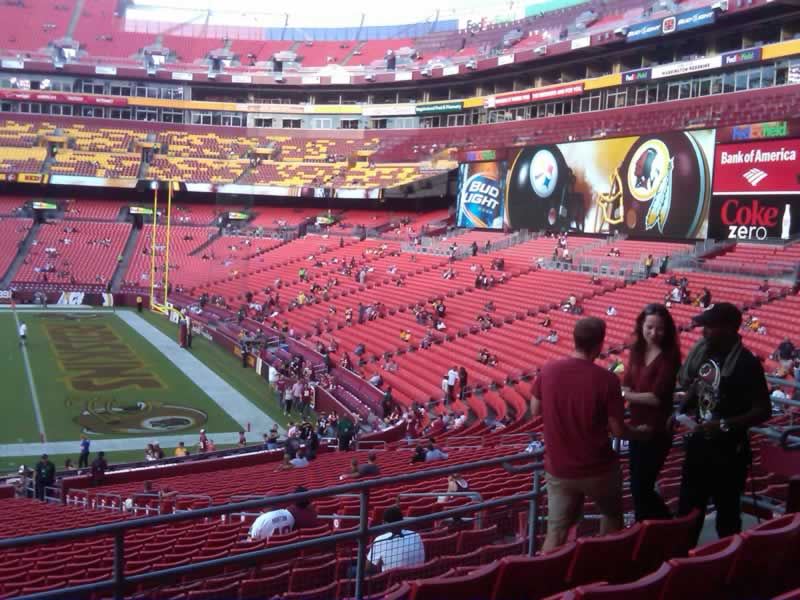 Seat View for FedExField Section 239, Row 5, Seat 13