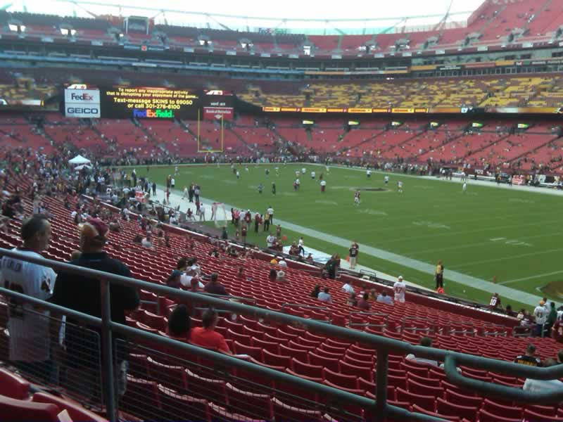 Seat View for FedExField Section 237, Row 3, Seat 5