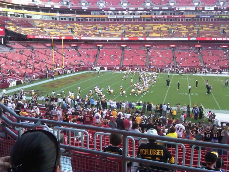 Seat View for FedExField Section 223, Row 3, Seat 14