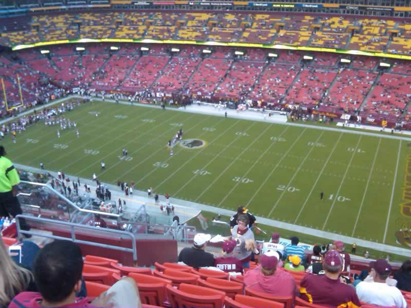 Seat View for FedExField Section 451, Row 14, Seat 17