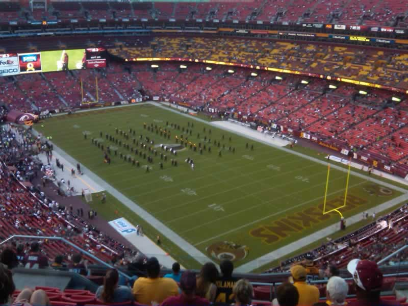 Seat View for FedExField Section 446, Row 11, Seat 13