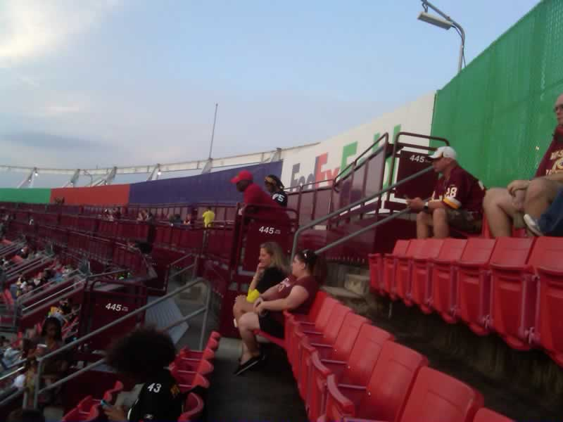 FedExField Section 446 Seats