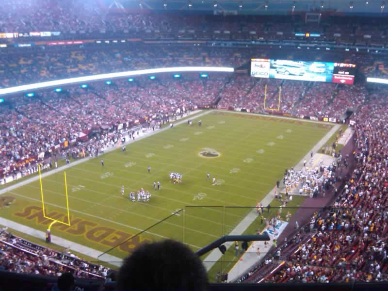 Seat View for FedExField Section 437, Row 7, Seat 5