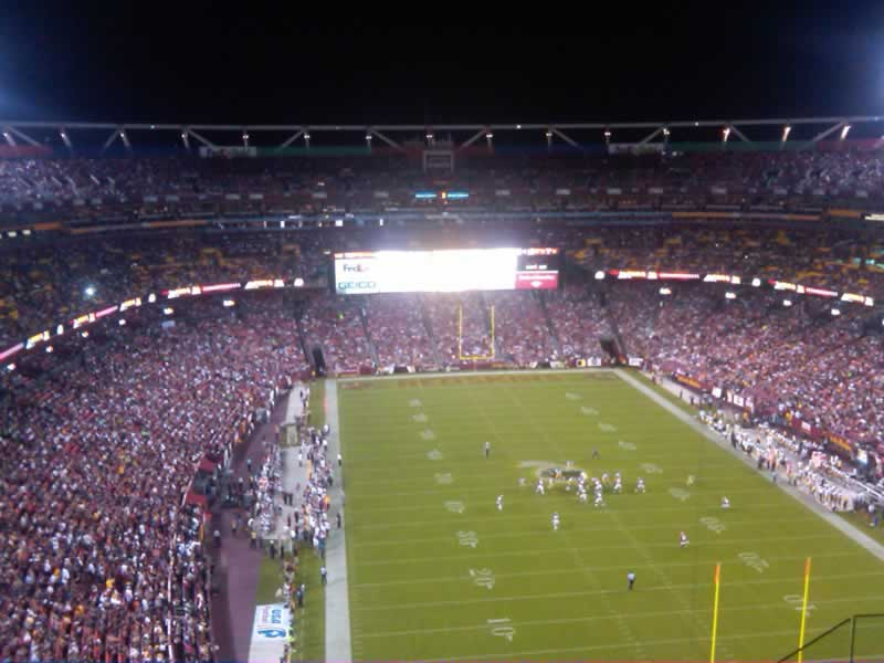 Seat View for FedExField Section 443, Row 7, Seat 8