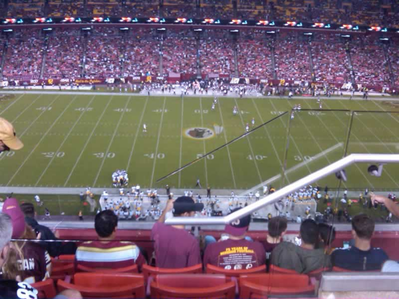 Seat View for FedExField Section 428, Row 6, Seat 6