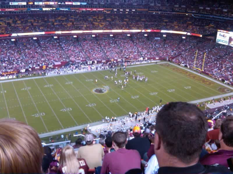 Seat View for FedExField Section 430, Row 15, Seat 24