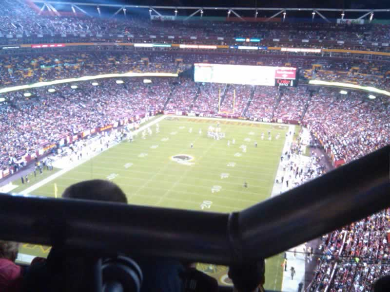 Seat View for FedExField Section 412, Row 4, Seat 6