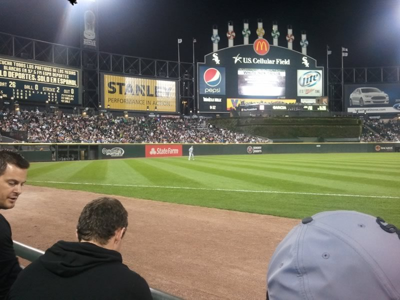 Seat View for Guaranteed Rate Field Section 146, Row 1, Seat 7