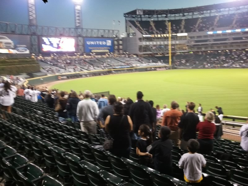 Seat View for Guaranteed Rate Field Section 157, Row 21, Seat 1
