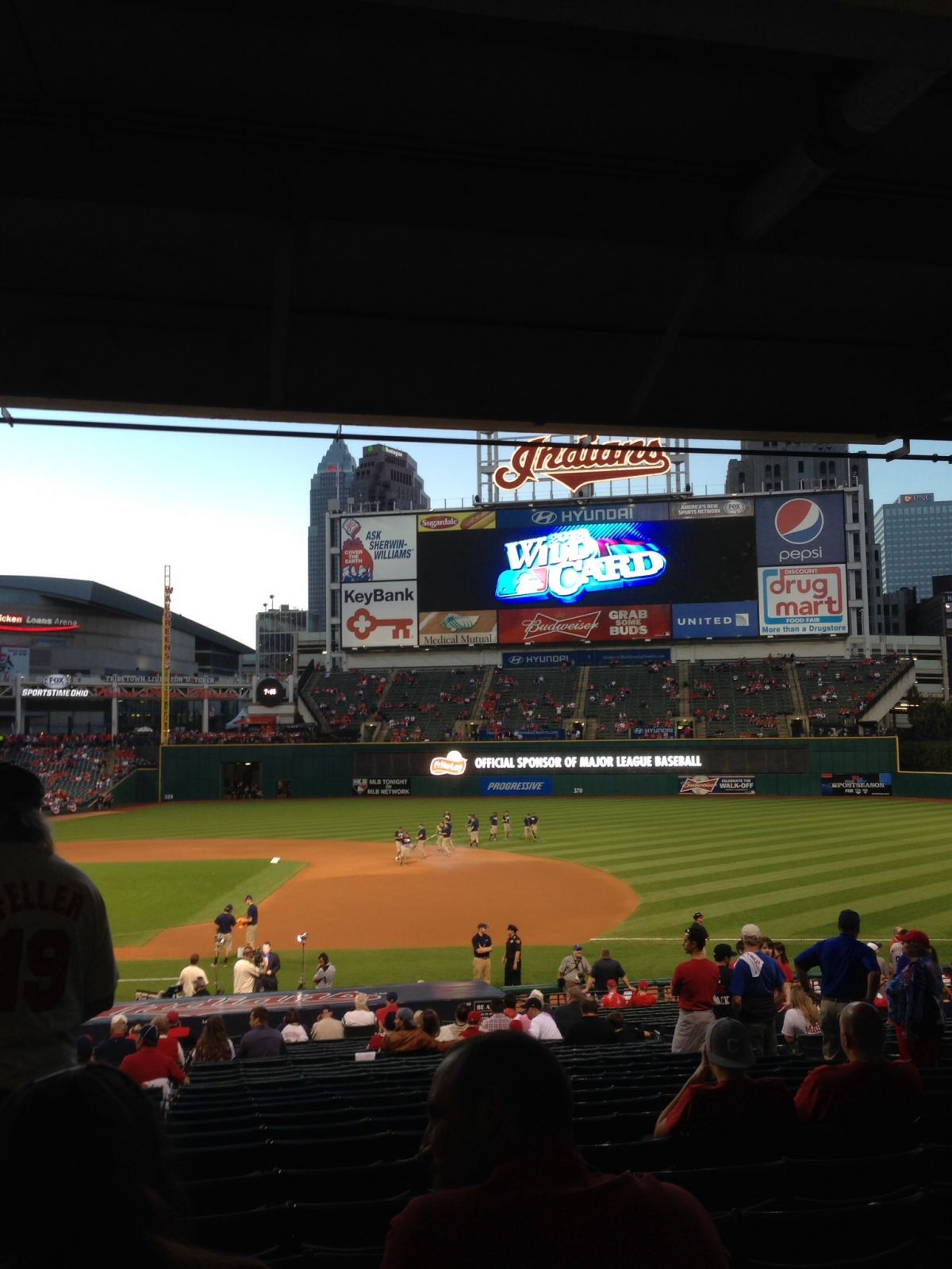 Seat View for Progressive Field Section 140, Row EE, Seat 7