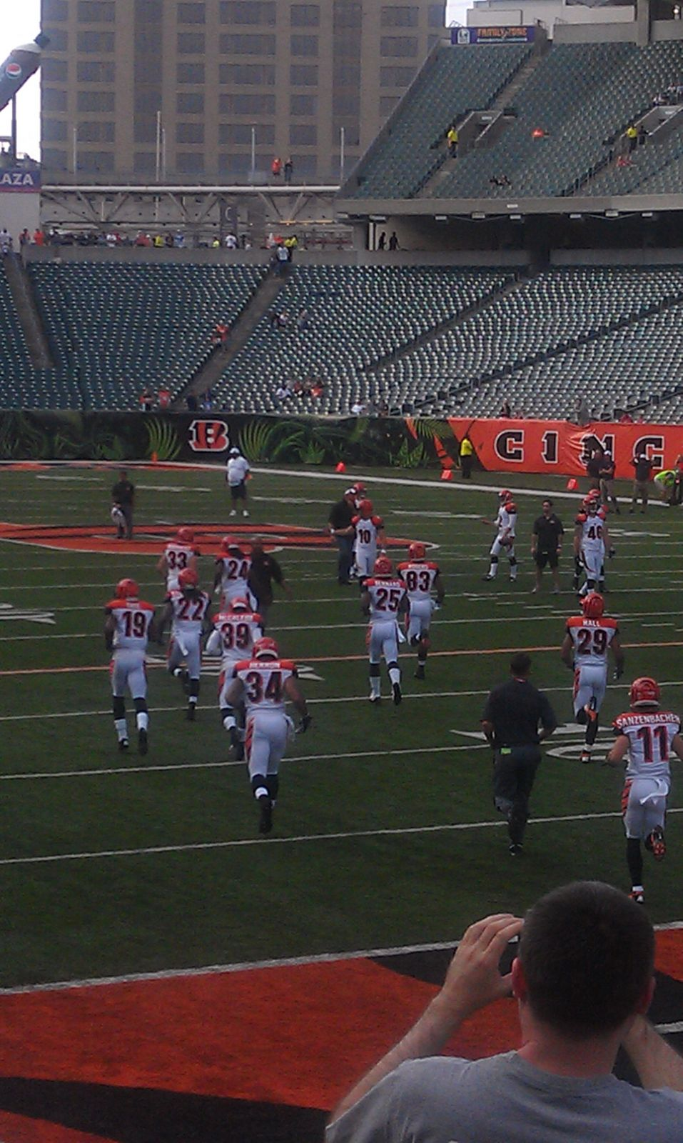 Seat View for Paul Brown Stadium Section 101, Row 11, Seat 3