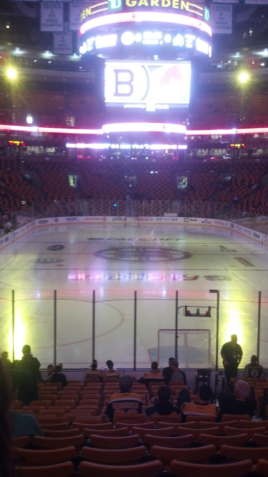 Boston Bruins Seat View for TD Garden Loge 18, Row 19, Seat 3