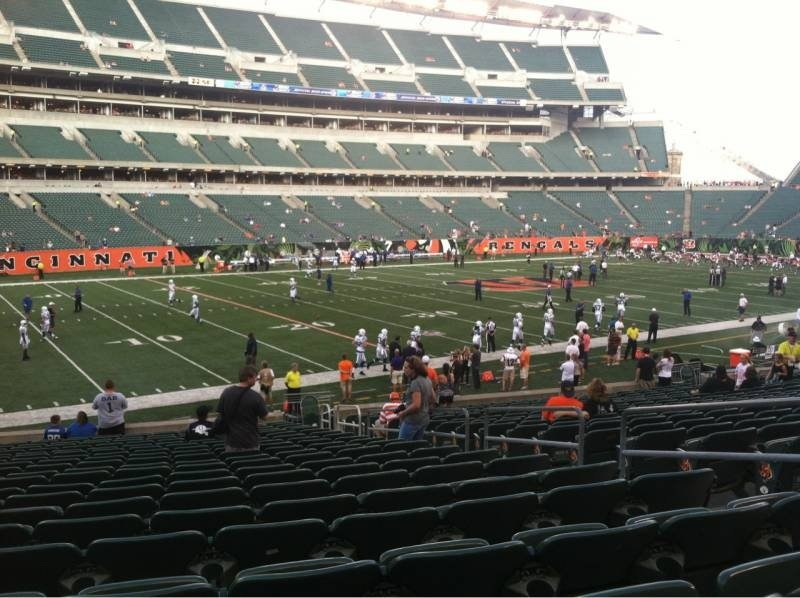 Seat View for Paul Brown Stadium Section 116, Row 14, Seat 15