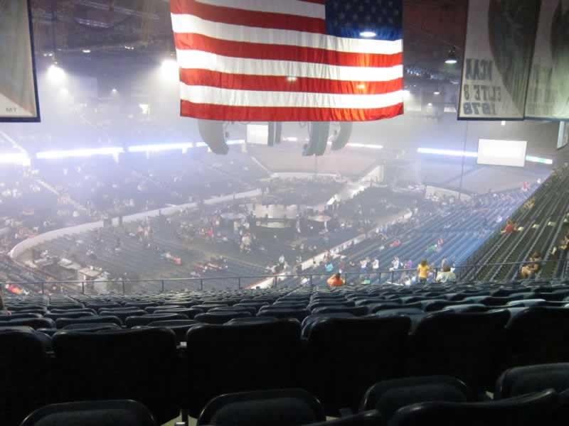 Concert Seat View for Allstate Arena Section 213, Row S, Seat 1